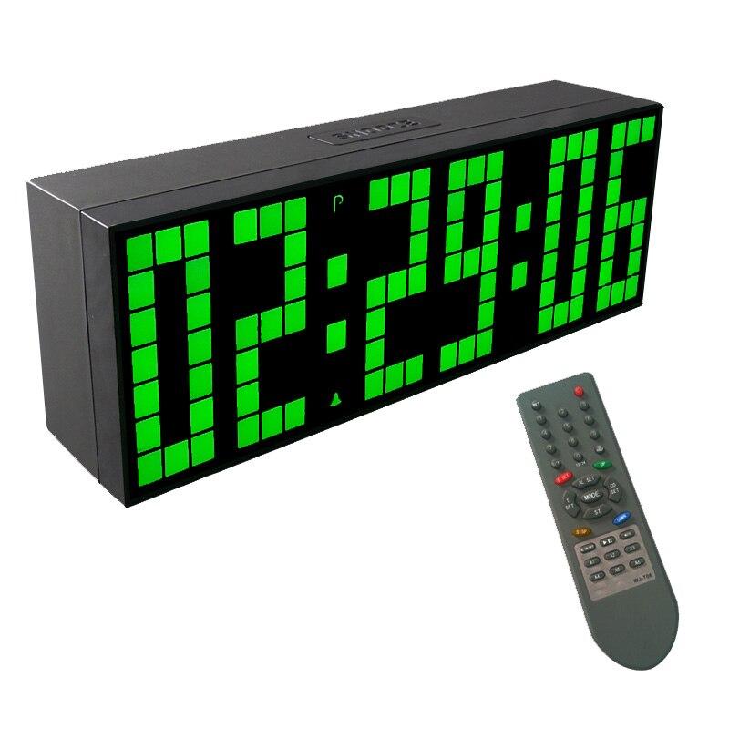 KOSDA LED Alarm Clock Lego Digital Alarm Clock For Kids Reloj Despertador Wake Up Desk Electronic wall clock