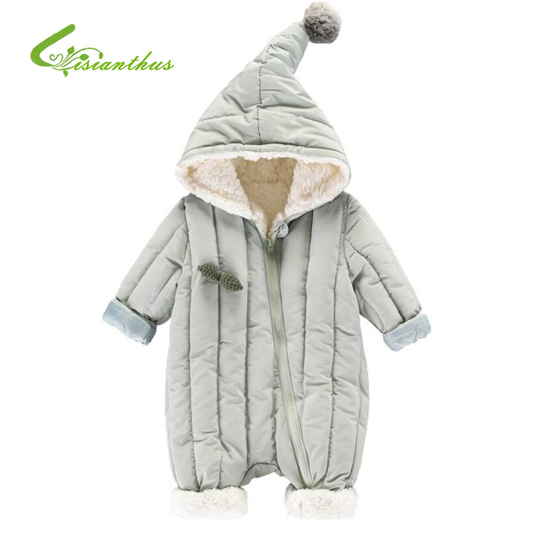 New 2019 Baby Rompers Winter Thick Cotton Boys Costume Girls Warm Clothes Kid Jumpsuit Children Cute Soft Outerwear