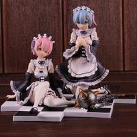 Re:Zero Kara Hajimeru Isekai Seikatsu Figurine Rem / Ram 1/8 Scale Action Figures PVC Collectible Model Toy