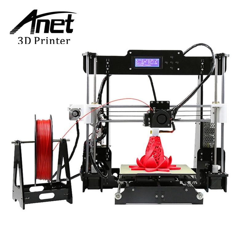 Оригинальный Анет A8 3D-принтеры DIY Kit простота сборки Prusa i3 RepRap горячий кровать односпальная печати сопла дома 3D-принтеры отправить из москва