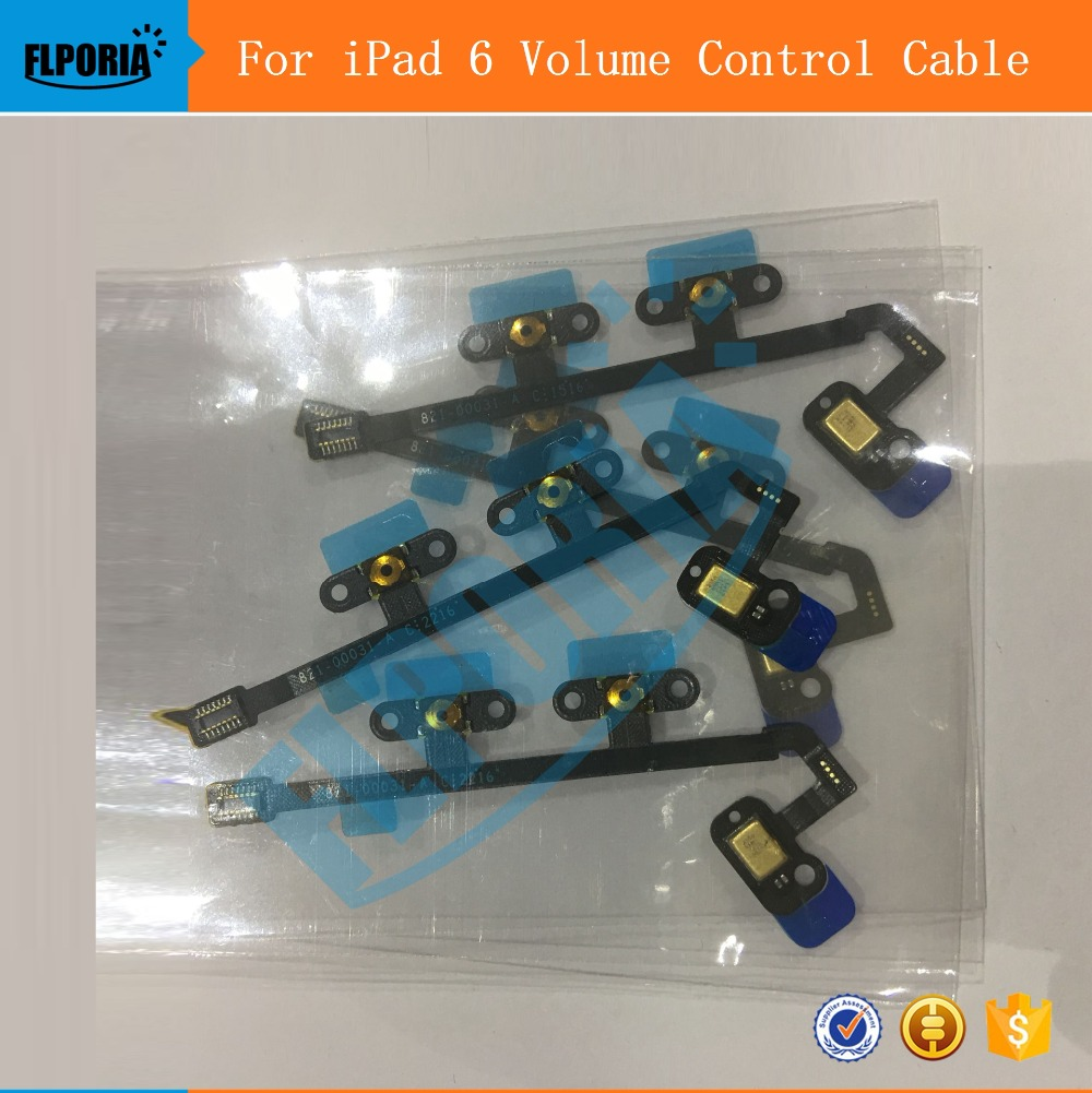 For iPad 6 Volume Control Button Flex Cable Ribbon Replacement Parts For iPad Air 2 For iPad 6 Volume Control Flex Cable