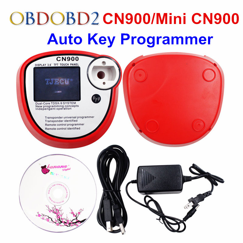2017 New Mini CN900 Key Programmer Works Multi Brand Cars Auto Transponder OEM CN 900 Copy 4C/4D/46/48/G Chips Indetified CN 900