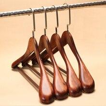 3ピース/ロット40/44センチ男女ワイドショルダーハンガーヴィンテージ木製コートハンガー世帯服店木製スーツハンガー