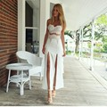 2016 Women Summer Dress Best Selling Strap Split Street Style Tube Women Clothing Cinderella Lace Female Party Dress