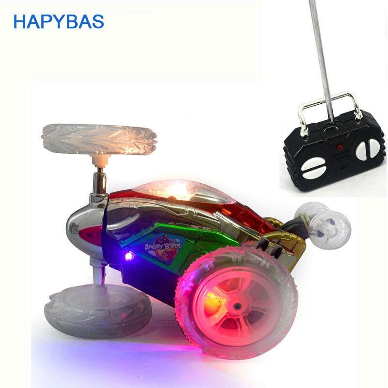 Lustige Mini RC Auto Fernbedienung Spielzeug Stunt-Auto Monster Truck Radio Elektrische Tanzen Drift Modell Rotierenden Rad Fahrzeug Motor