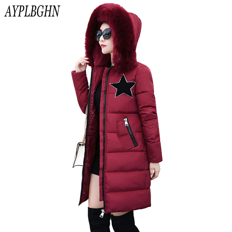 Plus size winter jacket women long coat parkas thickening female Hooded large fur collar warm clothes pockets winter coat 6L62 3xl 4xl 2016 winter jacket women parkas plus size hooded long coat parkas with real fur collar thickening female warm clothes