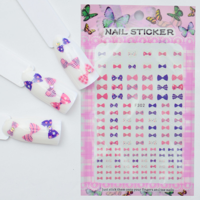 Nails Art & Tools Water Transfers Stickers Nail Decals Stickers Cartoon Cute Poodle Bow Tie Star Cross Sweet Hearts Yu531-542