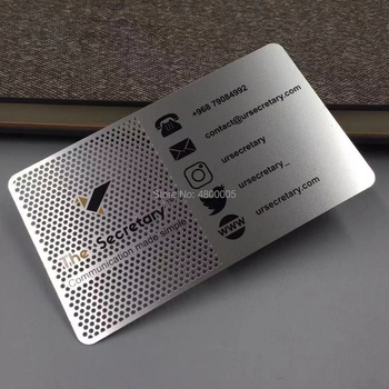High Precision Laser Etched Metal Business Cards new arrival etching and cutting through stainless steel metal material metal etched business cards