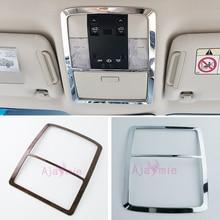 цена на Accessories For Toyota Land Cruiser 150 Prado LC150 FJ150 2010-2018 Interior Wood Color Reader Lamp Cover Trim Car Styling