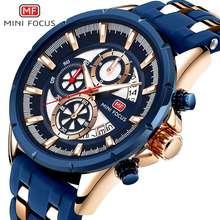 MINI FOCUS Top Brand Mens Watches Luxury Waterproof 24 hour Date Quartz Watch Man Silicone Sport WristWatch Men Clock
