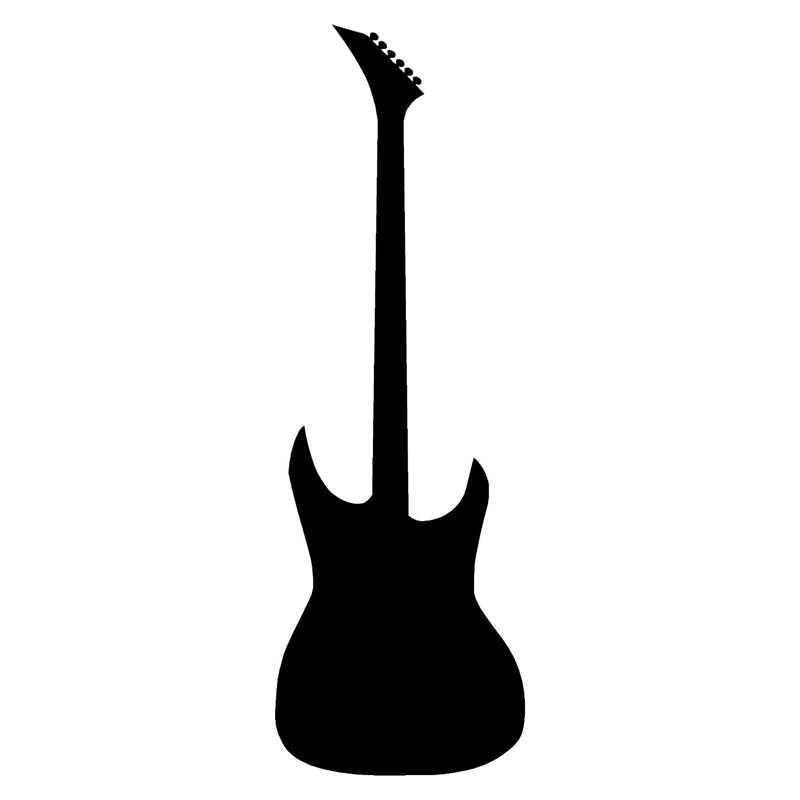 7 6cm 22 9cm Guitar Cartoon Fashion Car Sticker Car Accessories Vinyl Black Silver S3 4861 Accessories Speaker Accessories Lexusaccessories Headphone Aliexpress