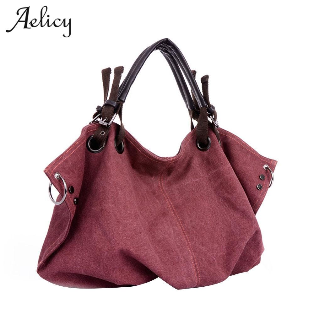 Canvas Handbag Casual Large Capacity Hobos Female Totes Crossbody Brands Shoulder Bags