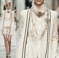 2017 primavera/otoño diseñador de la marca cc mujeres pista cc que arropan el suéter de lana de cachemira Con Cuello En V de punto chaleco + cardigan 2 unidades set