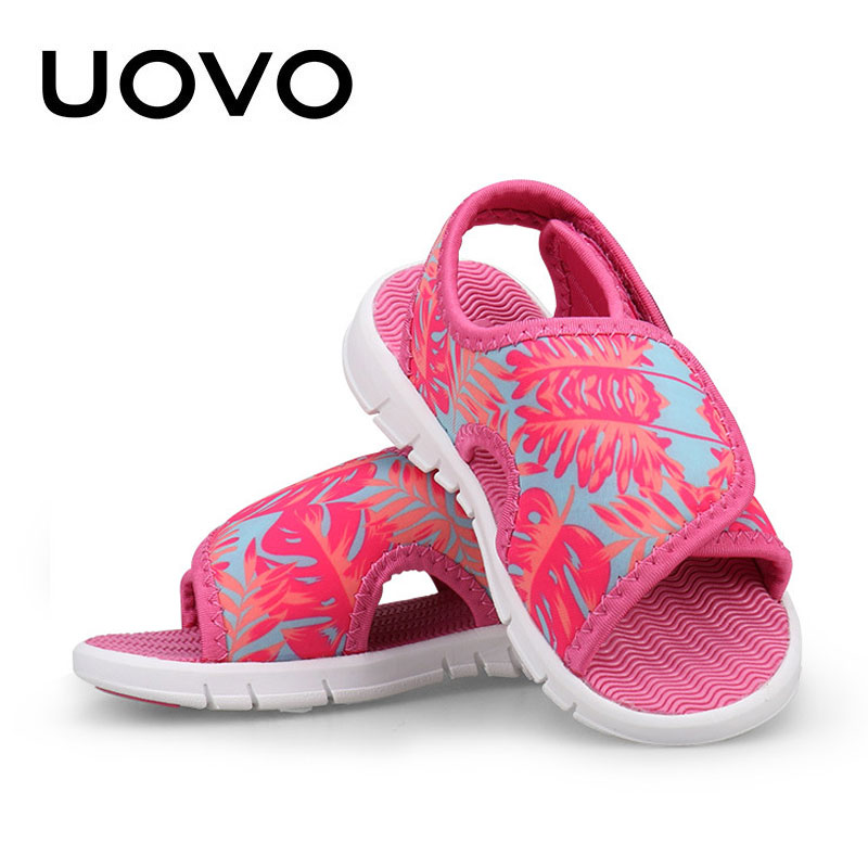 Baby Girls Boys Sandals Uovo Brand Summer Light-weight Beach Shoes Soft High Quality Spandex Toddler Casual Sandals Size 23-31