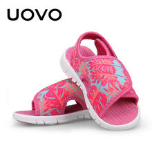 Baby Girls Boys Sandals Uovo Brand Summer Light-weight Beach Shoes Soft High Quality Spandex Toddler Casual Sandals Size 23-31(China)