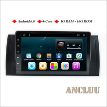 Ancluu 9″ fulltouch Android 6.0 Quad Core Car Radio For BMW E39 X5 M5 E38 E53 Car GPS Navigation support 4G wifi bluetooth