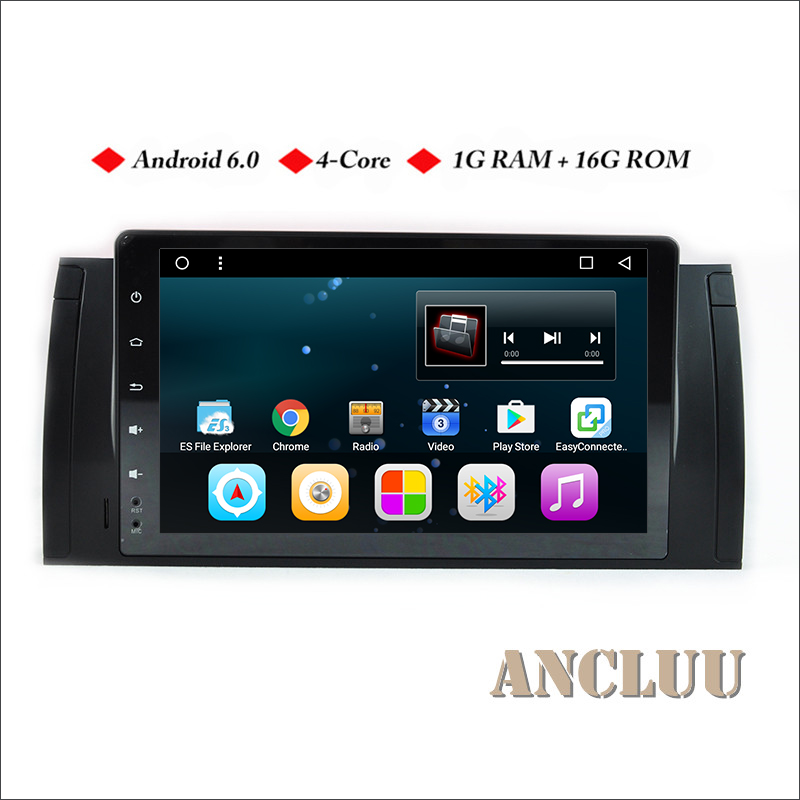 Ancluu 9&#8243; fulltouch Android 6.0 Quad Core <font><b>Car</b></font> Radio For BMW E39 X5 M5 E38 E53 <font><b>Car</b></font> GPS Navigation support 4G wifi <font><b>bluetooth</b></font>