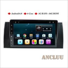 """Ancluu 9 """"fulltouch Android 6.0 Quad Core car Radios para BMW e39 X5 M5 e38 e53 GPS de navegación apoyo 4G WiFi Bluetooth"""