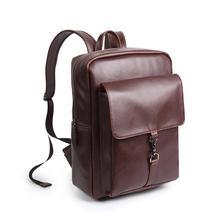 2017 горячее надувательство бесплатная доставка высокое качество искусственная кожа мода рюкзак подросток мода CRAZY horse кожа рюкзак школы