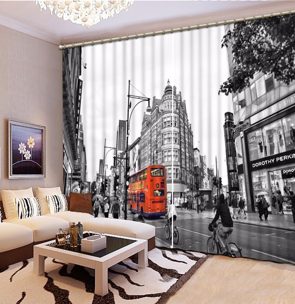 Home Bedroom Decoration Fashion Customized 3D Curtain Grey Scenery City Curtains For Bedroom Blackout Shade Window CurtainsHome Bedroom Decoration Fashion Customized 3D Curtain Grey Scenery City Curtains For Bedroom Blackout Shade Window Curtains