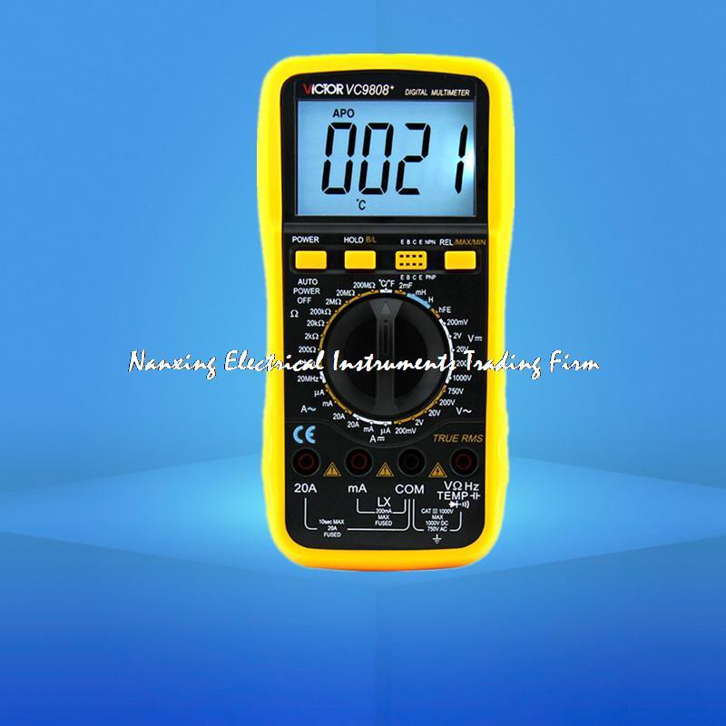 VICTOR VC9808+ 3 1/2 Digital multimeter DCV ACV DCA/R/C/L/F victor vc9808 3 1 2 digital multimeter dcv acv dca r c l f