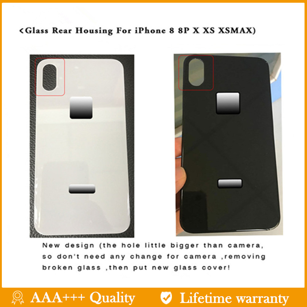 Back-Cover Body-Assemble-Housing Glass 8-Plus iPhone X for 8-plus/8/Xs/.. with Big-Hole