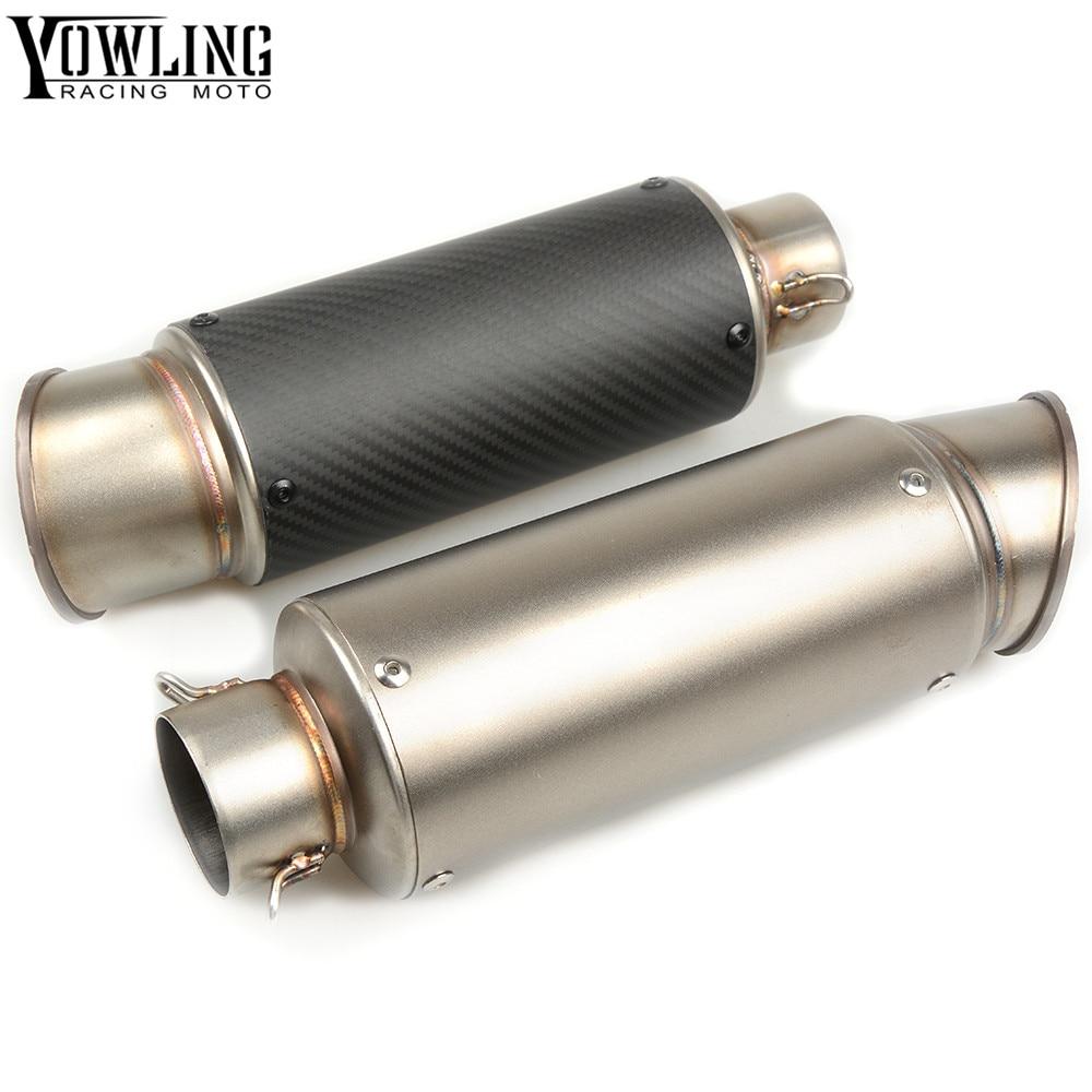 For Bmw S1000Rr S1000R Honda Shadow 600 Universal Carbon Fiber Exhaust Motorcycle Exhaust Moto Escape Muffler Pipe Db Killer