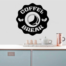 Creative Coffee Self Adhesive Vinyl Waterproof Wall Art Decal Pvc Decals Home Accessories