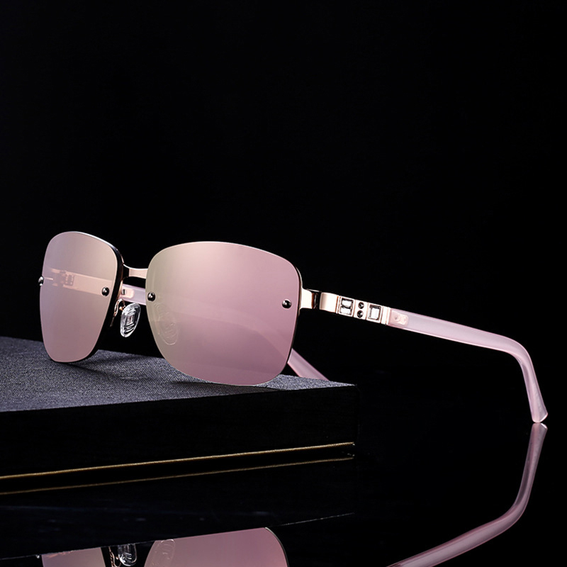 XIWANG Korean Version Of WomenS Stainless Steel Polarizing Sunglasses Atmospheric Leisure Anti-Ultraviolet Glasses