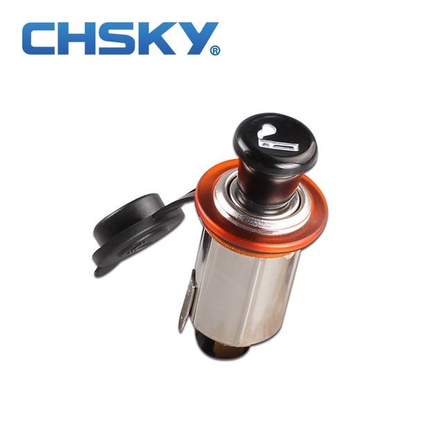 CHSKY 12V Car Cigarette Lighter ignition Anti-oxidation Chromeplate Heat Resisting Ceramic Lighter Power Socket Can ignite Cigar