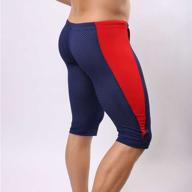 Men s Training Shorts Breathable Mesh Sport Shorts Men Tights Spandex  Elastic Running Training Side Striped Gym f1af5be8a973