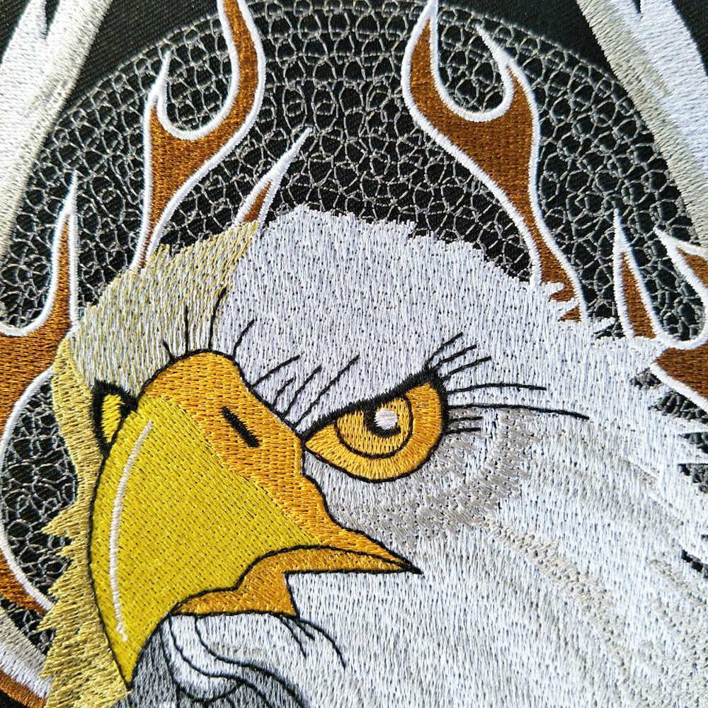Iron on eagle route 66 자수 오토바이 패치, 자켓 용 자수 큰 패치 배지