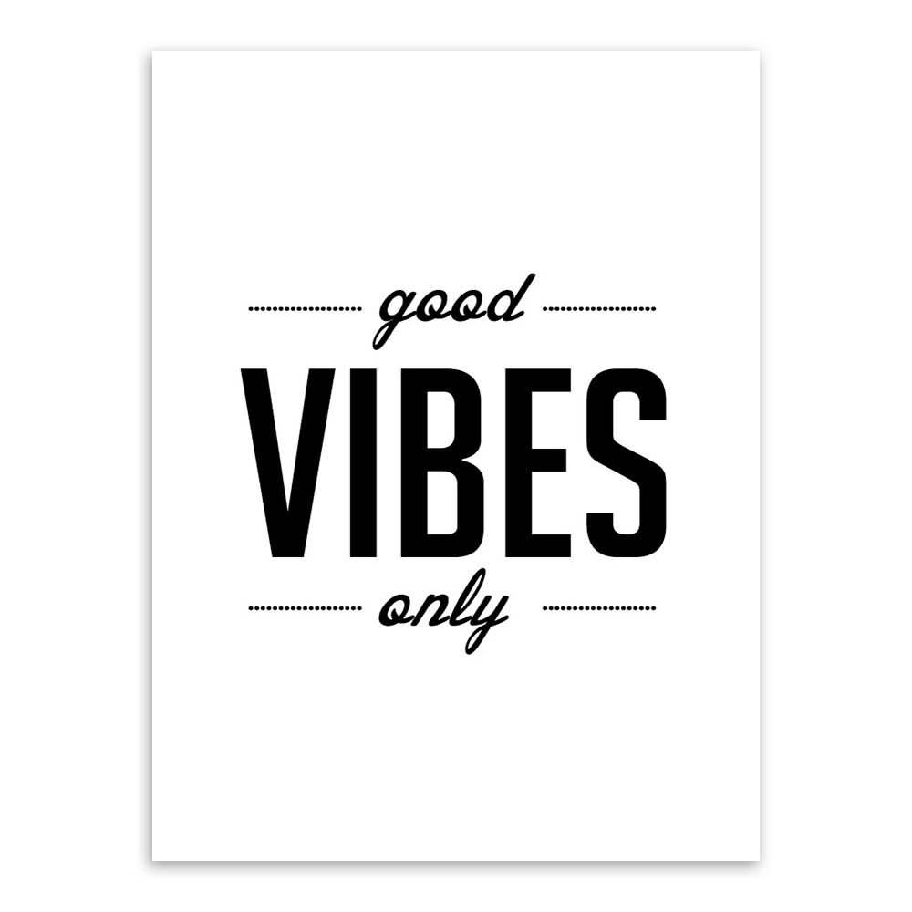 nordique minimaliste noir blanc typographie de motivation citations