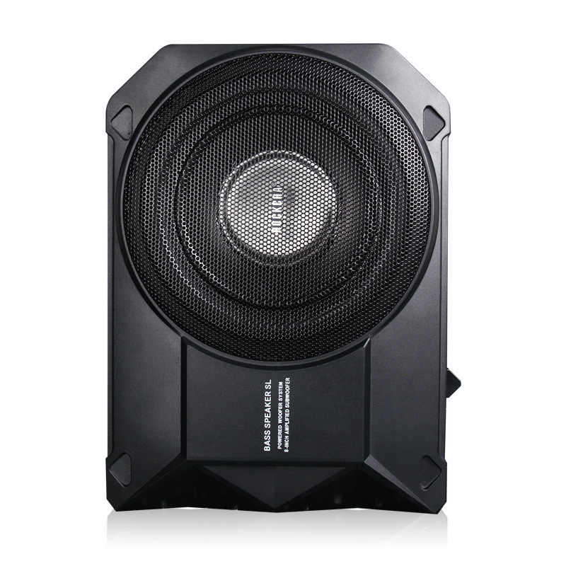 New Car audio conversion slim active Genuine ultra-thin Super Strong Car Subwoofer Bass woofer Built in 250w High Power Amplifer
