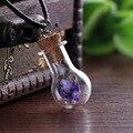 6 cores Natural floresta respiração do bebê do Vintage colar de pingente de margarida Vintage bem exclusivas feitas à mão DIY colares de vidro