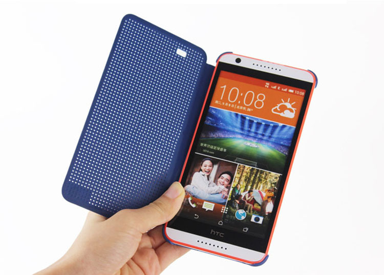 View Case Flip Cover Silicone Original Phone Cases For HTC Desire Eye For HTC Desire Eye Slim Dot Dotted Bag Smart Auto Sleep