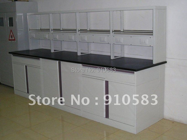 Lab Furniture/Steel Laboratory Wall Bench/ Lab Side Table 3000*750*800mm