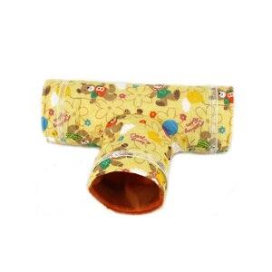 Sqinans игрушка для небольшого животного хомяка туннель 2 вида конструкций мультяшный принт морская свинка кролик гнездо кровать ПЭТ труба кровать для белки Ежик