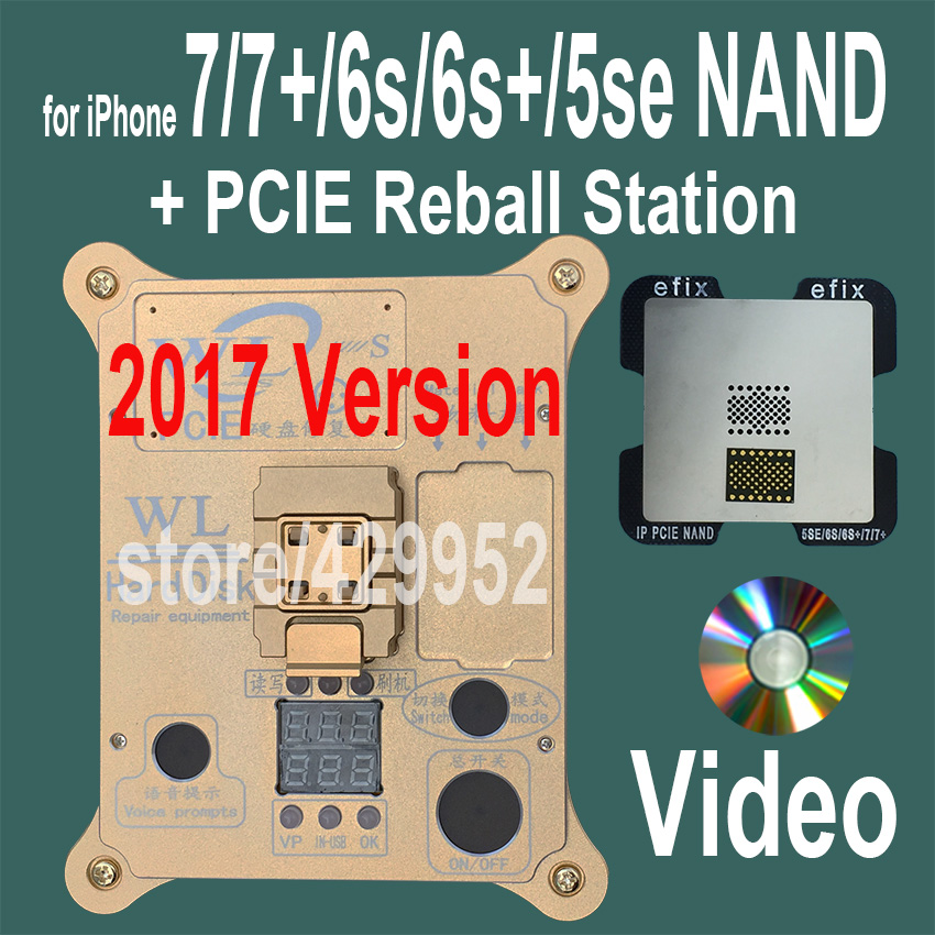 2017 Version PCIE NAND Flash Chip Programmer Tool Kits Machine Fix Repair HDD IC Serial Number for iPhone 5SE 6S 7 Plus iPad Pro