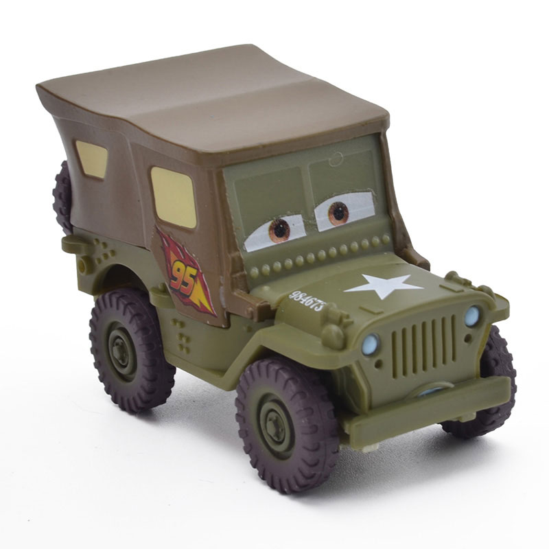 1:55 Diecast Metal Alloy Disney Pixar Cars Sarge Lightning Mcqueen Toys Cars Kids Birthday New Year Gifts First Choose