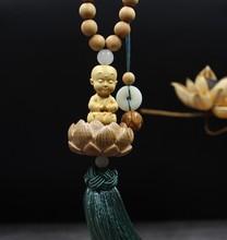 Car pendant, mahogany lotus, safe, high-grade, boxwood, carved Buddha statue, interior mirror decoration