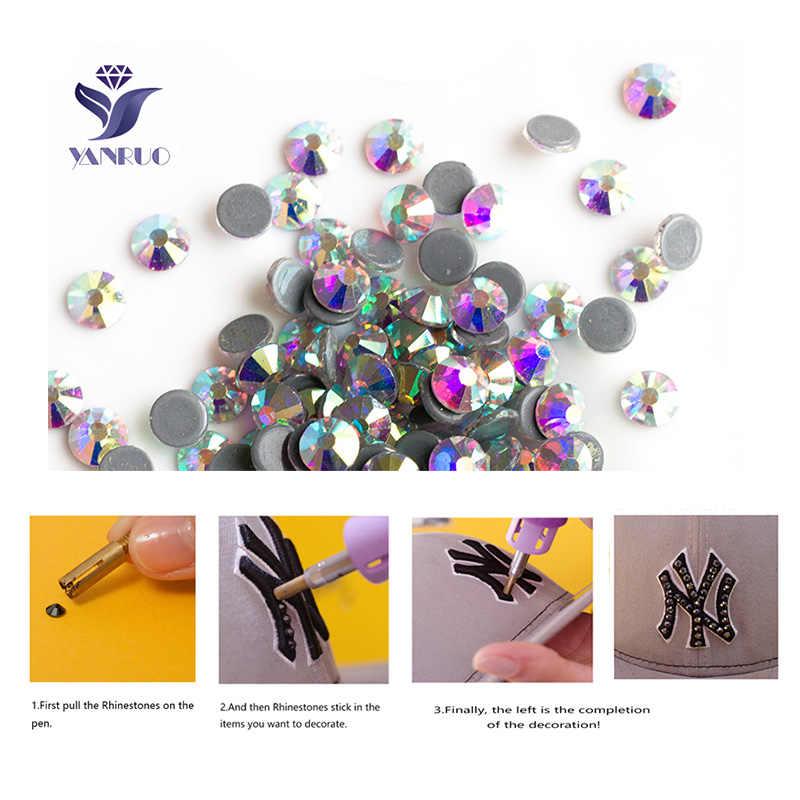 Yanruo 2058HF SS20 4,6-4,8mm Монтана камнями и кристаллы, стразы аппликация ремонтная лента Стекло камни торжественное платье