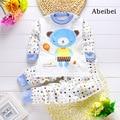 2 шт./компл. Одежда для Новорожденных детские Наборы для 7-24 М дети пижамы Одежда 100% Хлопок с длинным рукавом база рубашка майки пижамы медведи
