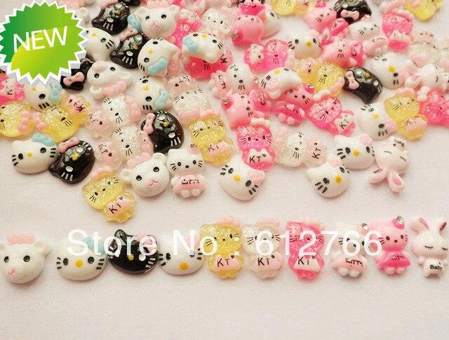 Nail Art Acrylic 3D cute design kitty 100pcs/set 10designs