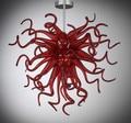 Модная красная стеклянная маленькая люстра  китайская заводская цена  Современная ручная выдувная стеклянная светодиодная люстра  Подвесн...