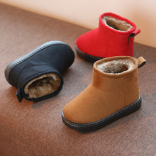 Winter new children girls snow boots shoes boys warm plush soft bottom baby girls boots leather snow boot for kids cotton shoes aadct fashionable warm cotton fur girls boots new winter comfortable children boots for boys high quality kids snow boots brand