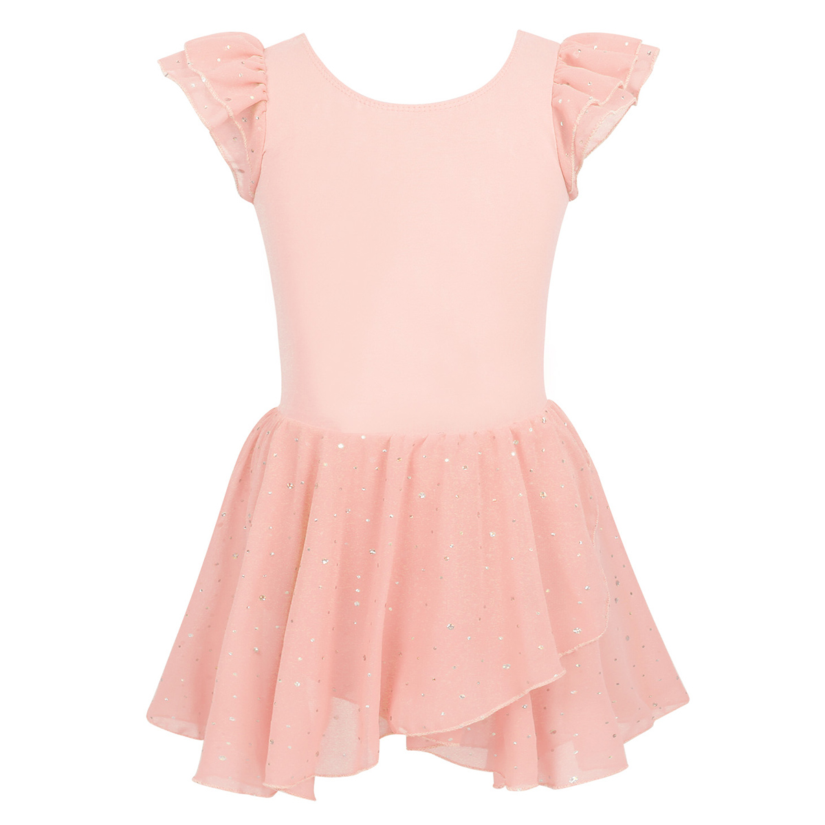 glittered foil Dance costume top shorts asymmetrical child//ladies Lime Blue