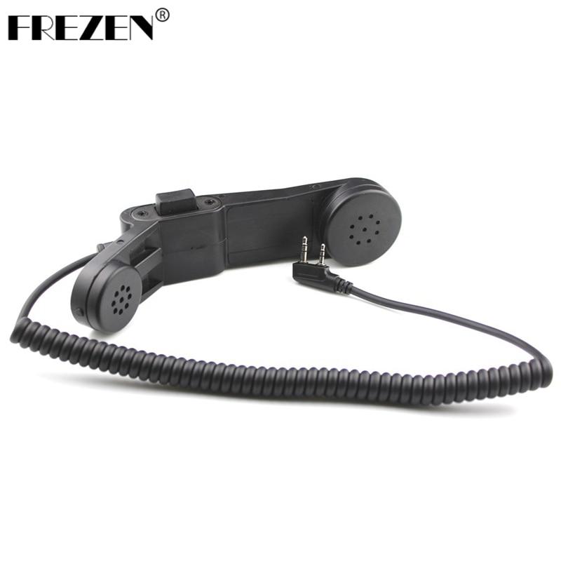 Walkie Talkie Handphone K Plug Hand Mic Z-TAC Element H250-PTT Communication Station Handle Microphone For Kenwood Baofeng