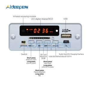 Image 2 - وحدة فك تشفير المكالمات بالبلوتوث صغيرة 5 فولت MP3 WAV U Disk وبطاقة TF USB مع جهاز تحكم عن بعد لمضخم صوت 2*3 واط