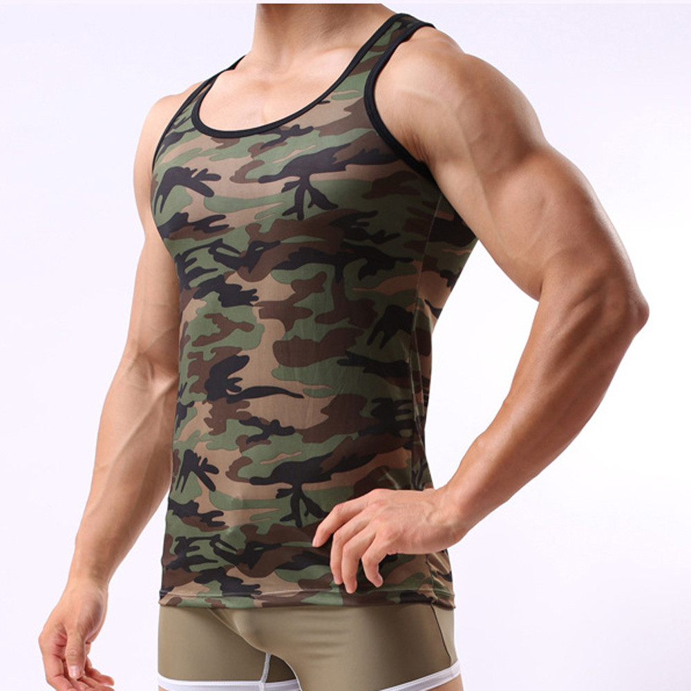 Military Sleeveless Men's Camouflage Vest Sportswear   Tank     Top   c0301